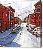 St Henri Depanneur Canadian Paintings Mini Montreal Masterpieces For Sale Petits Formats A Vendre  Canvas Print