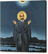 St. Ignatius In Prayer Beneath The Stars 137 Canvas Print