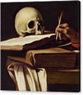 St. Jerome Writing Canvas Print
