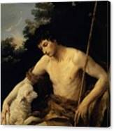 St John The Baptist In The Wilderness 1625 Canvas Print