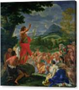 St John The Baptist Preaching Canvas Print