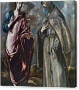 St. John The Evangelist And St. Francis Of Assisi Canvas Print