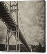 St. Johns Bridge In Black And White Canvas Print