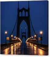 St Johns Bridge Shine Canvas Print