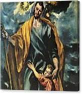 St Joseph And The Christ Child 1599 Canvas Print
