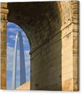 St Louis Arch And Eads Bridge   Canvas Print