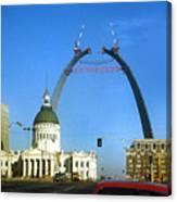 St. Louis Arch Construction Canvas Print