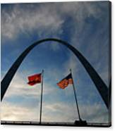 St Louis Arch Metal Gateway Landmark Canvas Print