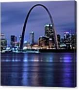 St Louis Black N Blue Canvas Print