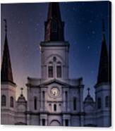 St. Louis Cathedral At Night Canvas Print