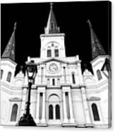 St. Louis Cathedral Drama In New Orleans Canvas Print