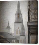 St. Louis Cathedral From Chartres St. - Nola Canvas Print