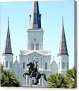 St. Louis Cathedral From Jackson Square Canvas Print