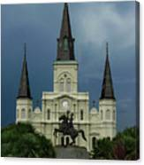 St Louis Cathedral In Jackson Square Canvas Print