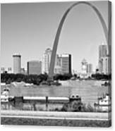 St Louis City Scape In Black And White Canvas Print