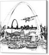 St. Louis Highlights Version 1 Canvas Print