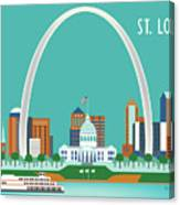 St. Louis Missouri Horizontal Skyline Canvas Print