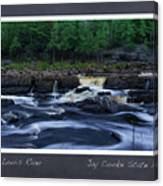 St Louis River Scrapbook Page 1 Canvas Print