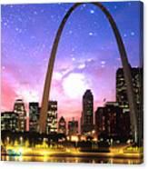 St Louis Skyline As Night Falls Canvas Print