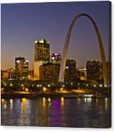 St Louis Skyline From Poplar Street Bridge Canvas Print