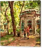 St Louis Square St Denis Street Canvas Print