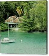 St. Lucia Mooring Canvas Print