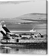 St. Margarets Hope, Orkney.    Black And White Canvas Print