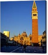 St Marks In Venice In Afternoon Sun Canvas Print