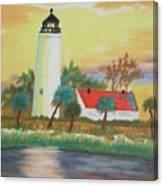 St Marks Lighthouse Fl 3 Canvas Print