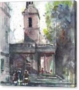 St Martins In The Field Adjacent Trafalgar Square London Canvas Print