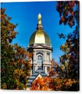 St Mary Atop The Golden Dome Of Notre Dame Canvas Print