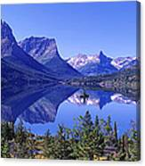 St Mary Lake Glacier National Park Mt Canvas Print