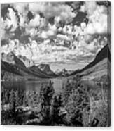 St Mary Lake Glacier National Park Panoramic Canvas Print
