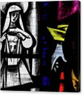 St Mary Redcliffe Stained Glass Close Up C Canvas Print