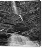 St Mary Triple Cascades - Black And White Canvas Print