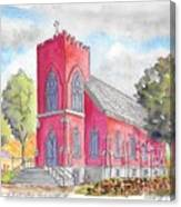 St. Mary's Catholic Church, Oneonta, Ny Canvas Print