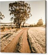 St Marys Winter Country Road Canvas Print