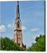 St. Matthew's German Evangelical Lutheran Church In Charleston Canvas Print
