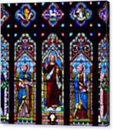 St. Michael's Parish Stained Glass Canvas Print