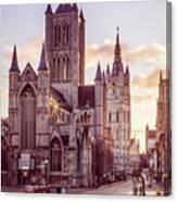 St. Nicholas Church, Gent Canvas Print