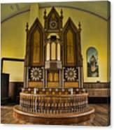 St Olafs Kirke Pulpit Canvas Print