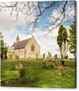St Oswald's Church Graveyard Canvas Print