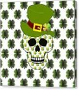 St Paddys Skull  Canvas Print