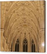 St. Patrick's Cathedral - Detail Of Main Altar's Ceiling Canvas Print