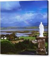 St Patricks Statue, Co Mayo, Ireland Canvas Print