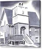 St Paul Lutheran With Ink Canvas Print