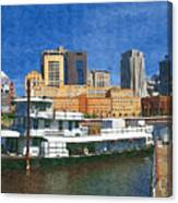 St Paul On The Mississippi Canvas Print