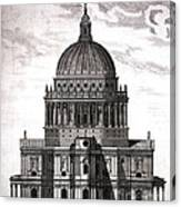 St. Pauls Drawn By Christopher Wren Canvas Print