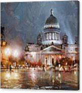 St. Petersburg.isaac Square Canvas Print