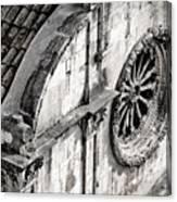 St. Saviour Church Window - Black And White Canvas Print